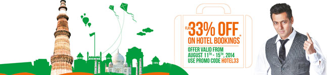 Get Flat 33% off on Hotels in India Offer Extended