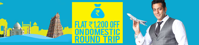 Get flat INR.1,200 on domestic flights (For Standard Chartered customers)
